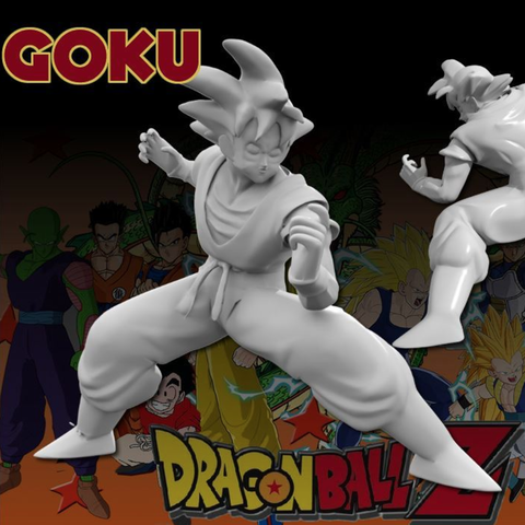Download free STL file Goku Sculpt • 3D printable template, Geoffro