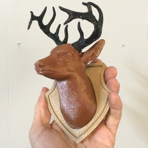 Download free STL file Deer Head 3 Piece remix • 3D printable design, Geoffro