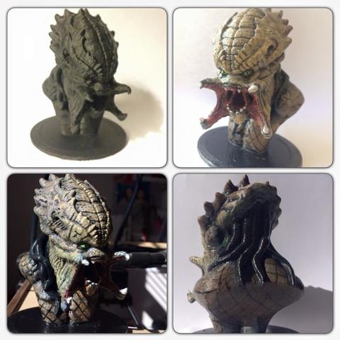 Archivos STL gratis Busto tallado Predator (HD), Geoffro