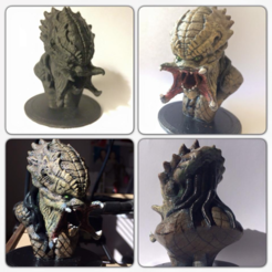 Free 3D printer designs Predator Bust Sculpt (HD), Geoffro