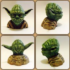 Descargar archivos STL gratis Yoda resolución busto 56MB, Geoffro