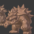 Download free STL file Bowser resculpted • 3D printer model, Geoffro