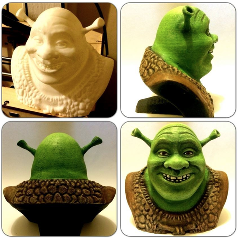 Free 3d printer designs Shrek Resculpt (35mb), Geoffro