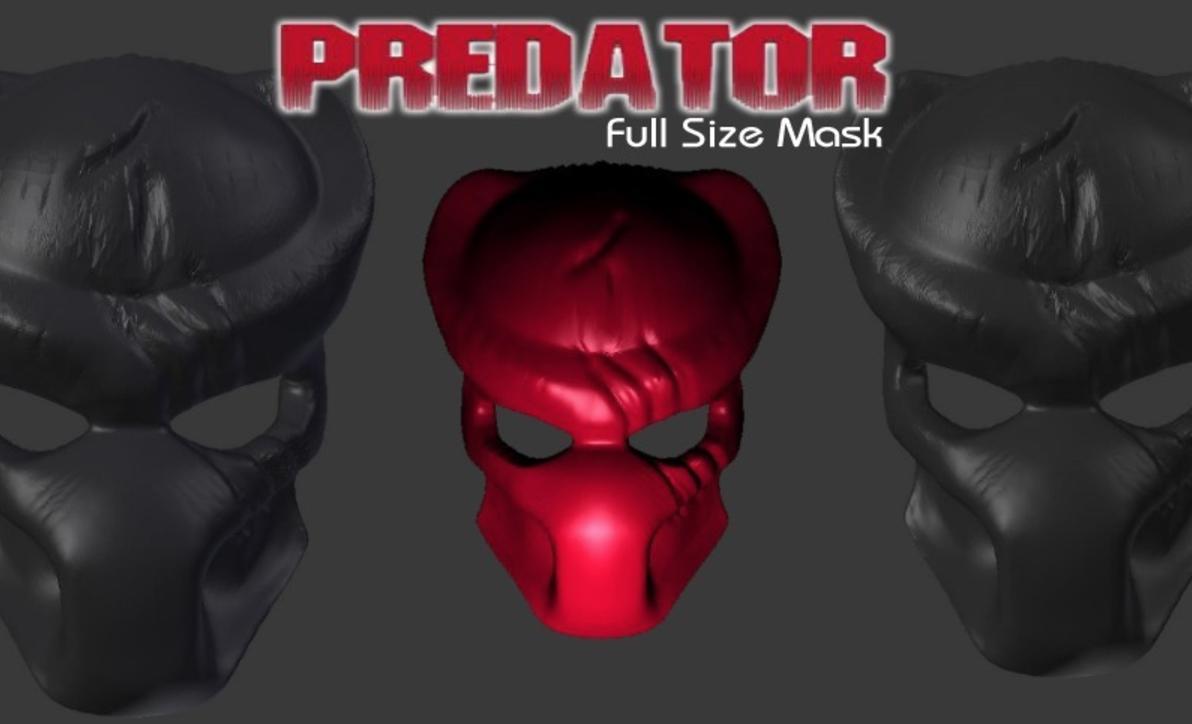 Capture d'écran 2016-12-12 à 12.54.27.png Télécharger fichier STL gratuit Masque Predator avec dégâts de combat • Objet imprimable en 3D, Geoffro