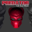 Free 3d printer files Predator Mask with Battle Damage, Geoffro