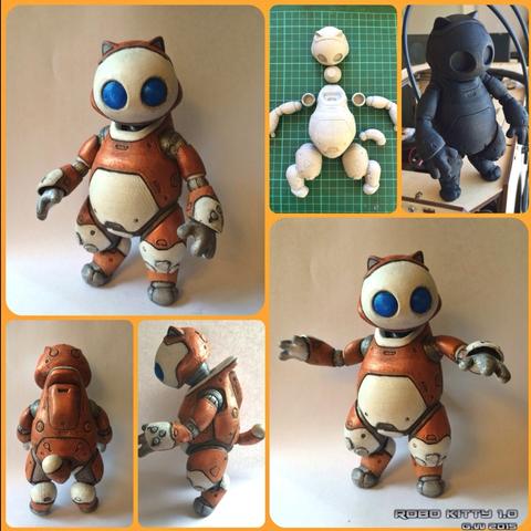Download free STL file Robo Kitty v1.0 • 3D print model, Geoffro