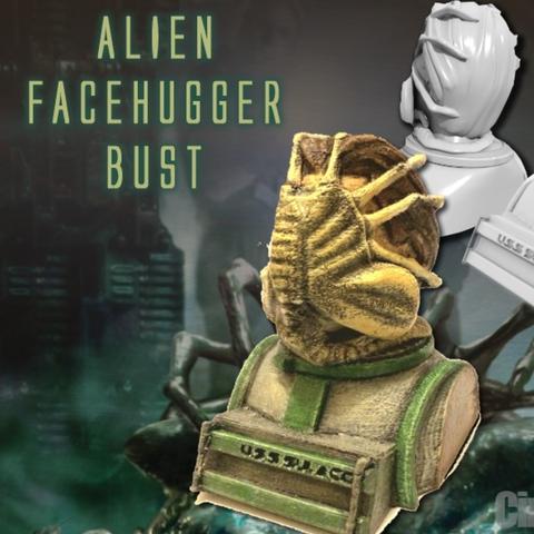 Capture d'écran 2016-12-12 à 19.31.35.png Download free STL file Aliens Face Hugger Bust • 3D printer template, Geoffro