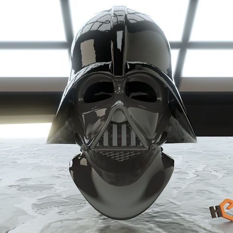 picture about Darth Vader Printable Mask named Darth Vader - 3D Printable Demonstrate Helmet