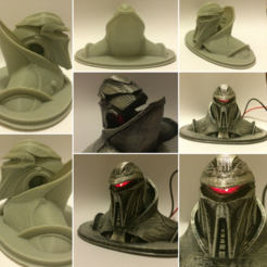 Free 3D printer model Battlestar Galactica Cylon Bust, Geoffro