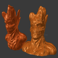 Download free STL file Groot resculpt HD (52mb) • 3D printing template, Geoffro