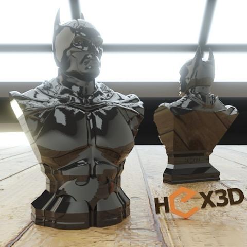 Capture d'écran 2016-12-13 à 16.57.01.png Download free STL file Another Batman Bust (HD) Arkham • 3D print object, Geoffro