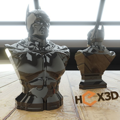 Free STL files Another Batman Bust (HD) Arkham, Geoffro