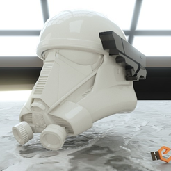 Free 3D print files Death Trooper Helmet - Addon Side Targeter, Geoffro
