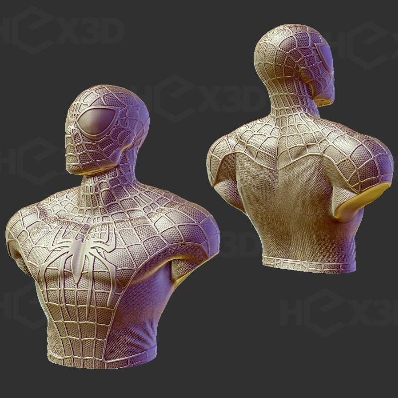 sssp.jpg Download STL file Spiderman Bust - Easy print, no supports. • Model to 3D print, Geoffro