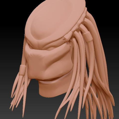 Capture d'écran 2016-12-12 à 14.08.30.png Download free STL file Predator Bust With Hair (35mb) • 3D printing design, Geoffro