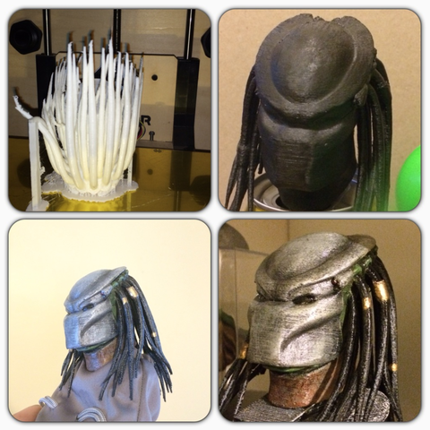 Capture d'écran 2016-12-12 à 14.08.17.png Download free STL file Predator Bust With Hair (35mb) • 3D printing design, Geoffro