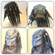 Free 3D printer designs Predator Bust With Hair (35mb), Geoffro