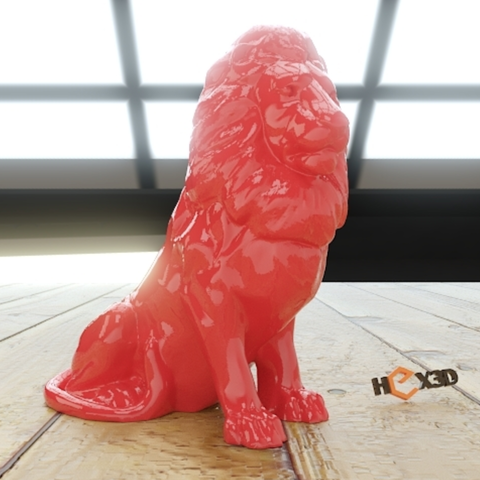 Free stl file Lion HD (no supports required), Geoffro