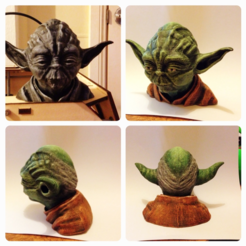 Free 3D printer designs Yoda Resculpted 26mb, Geoffro
