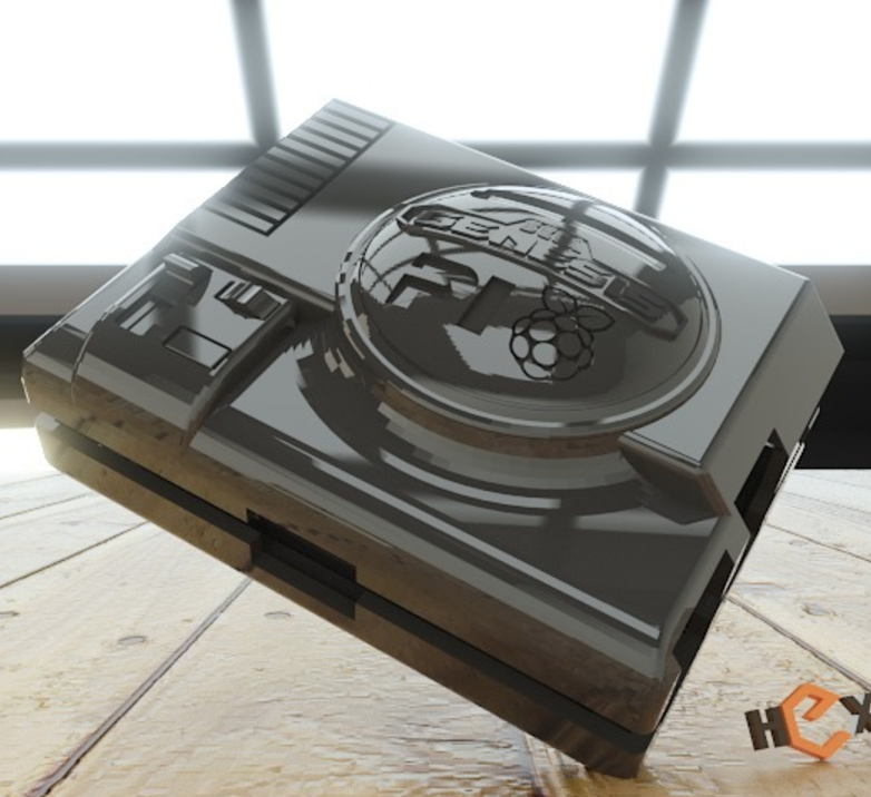 Capture d'écran 2016-12-13 à 16.52.54.png Download free STL file Sega Pi - Genesis Raspberry Pi-2 Case • 3D printable object, Geoffro