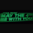 Download free STL file  May the 4th be With You plaque (Dual Extrusion) • 3D print model, Geoffro
