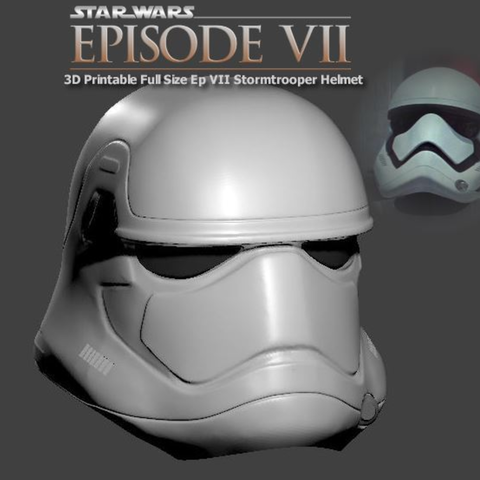 Download free 3D printer templates Wearable Episode VII StormTrooper Helmet, Geoffro