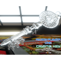 Modelos 3D Crystal Key (Ready Player One), Geoffro