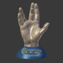 Free 3D printer model Leonard Nimoy Memorial Print., Geoffro