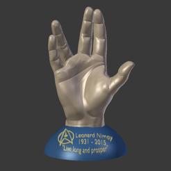 modelo stl gratis En memoria de Leonard Nimoy 3D imprimible., Geoffro