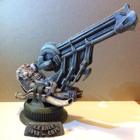 Capture d'écran 2016-12-12 à 17.29.10.png Download free STL file Alien Jockey Commemorative Bust / Model • 3D printable design, Geoffro