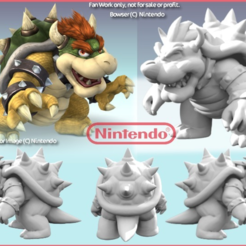 Download free STL file Bowser resculpted, Geoffro