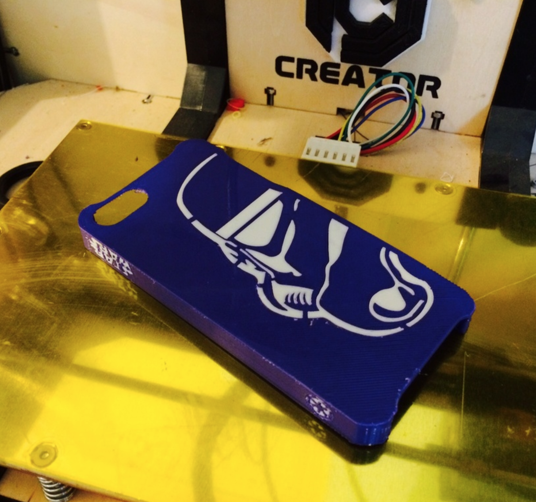 Capture d'écran 2016-12-12 à 12.35.37.png Download free STL file Dual Extrusion StormTrooper Iphone 5 Case • 3D printer template, Geoffro