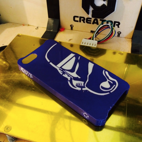 Free STL files Dual Extrusion StormTrooper Iphone 5 Case, Geoffro