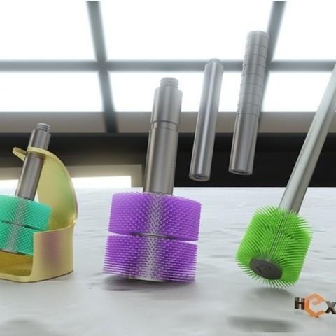 Descargar Modelos 3D para imprimir gratis Escobillero desechable peludo, Geoffro