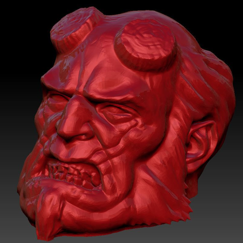 Capture d'écran 2016-12-12 à 16.56.12.png Download free STL file Hellboy Resculpted • 3D printing model, Geoffro