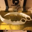 Download free STL file Karambit Fixed • Object to 3D print, Geoffro