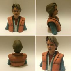 Descargar modelos 3D gratis Marty McFly Busto del personaje del juego, Geoffro