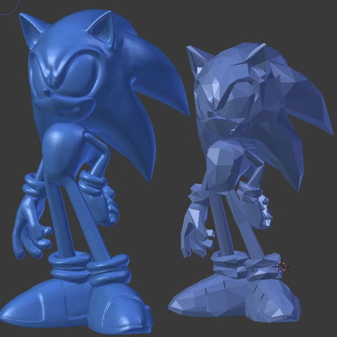 Free 3D print files Sonic the Hedgehog Sculpt (21mb), Geoffro