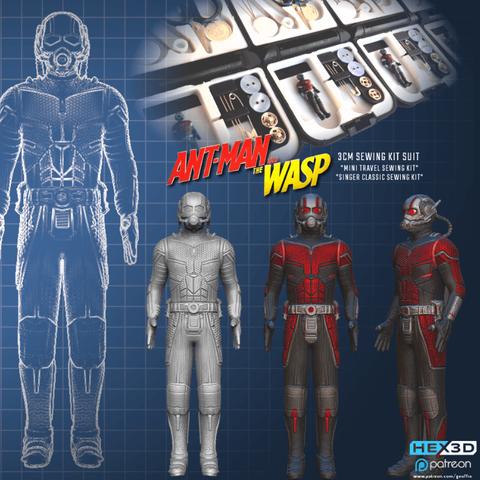 Download free STL files Antman 3cm Suit for SLA printing, Geoffro