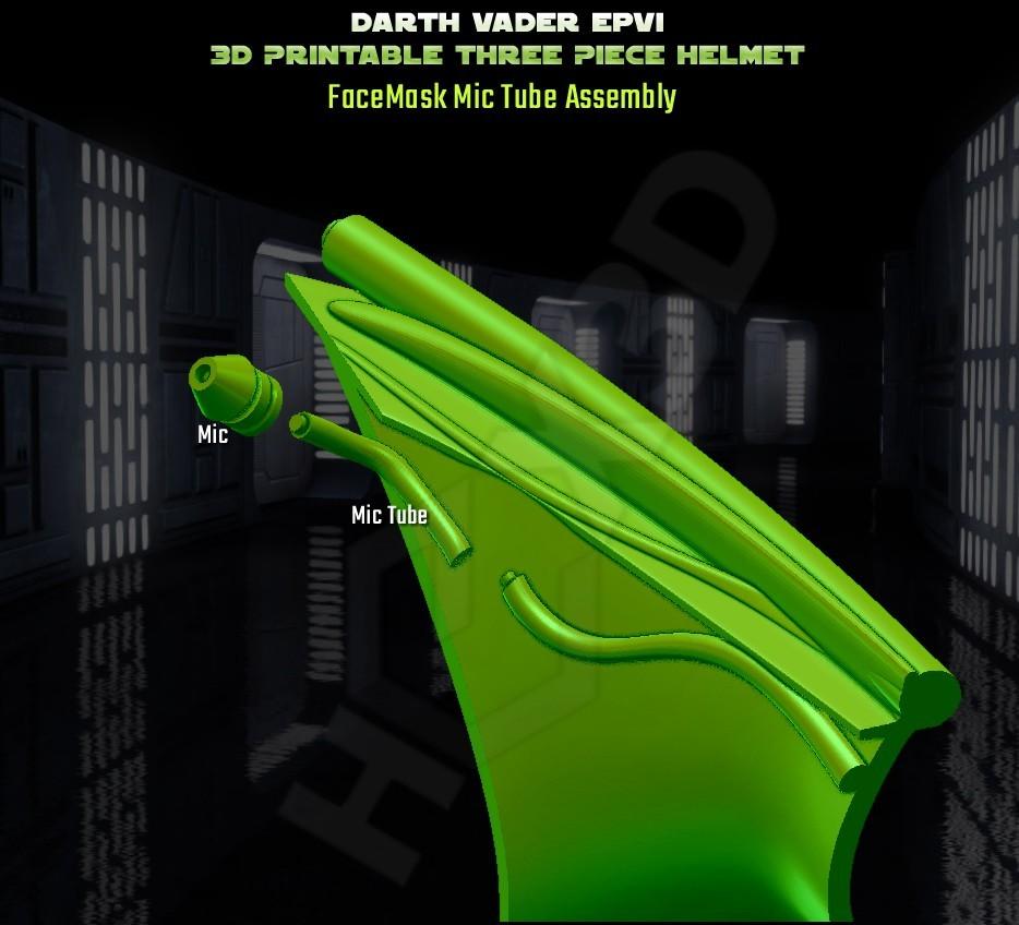 microphone__Assembly.jpg Descargar archivo STL Darth Vader - Casco de Revelación 3D para Imprimir • Diseño para imprimir en 3D, Geoffro