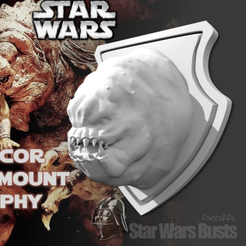 Free STL file Rancor Head Wall Trophy, Geoffro
