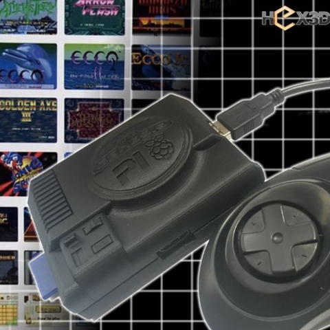 Capture d'écran 2016-12-13 à 16.56.18.png Download free STL file Sega Pi - Genesis Raspberry Pi-2 Case • 3D printable object, Geoffro