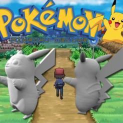 archivos 3d Pikachu Deluxe (actitud de abrazo) gratis, Geoffro
