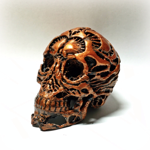 Free Hunter Skull HD (with supports) 3D printer file, Geoffro