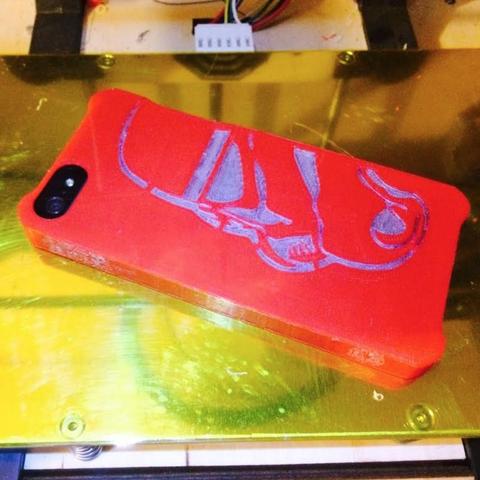 Capture d'écran 2016-12-12 à 12.36.19.png Download free STL file Dual Extrusion StormTrooper Iphone 5 Case • 3D printer template, Geoffro