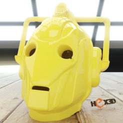 Free 3D printer designs Cybermen Scale Helmet (High Res), Geoffro