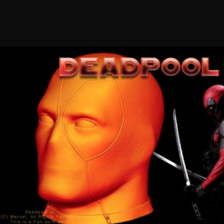 Download free 3D printer designs Deadpool Head (HD), Geoffro