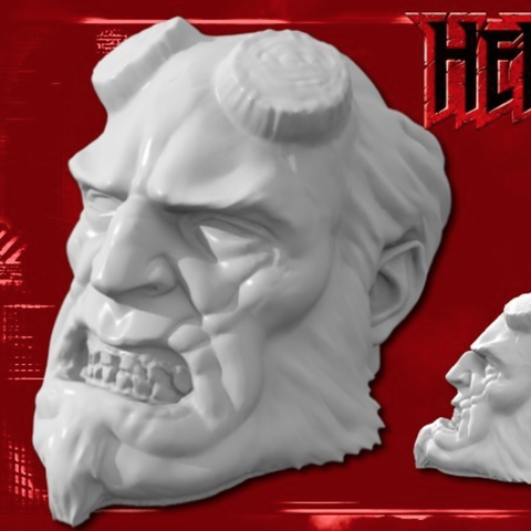 Capture d'écran 2016-12-12 à 16.56.00.png Download free STL file Hellboy Resculpted • 3D printing model, Geoffro
