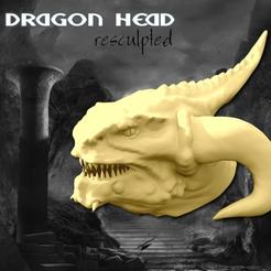 objet 3d gratuit Tête de Dragon Sculpté (45mb), Geoffro