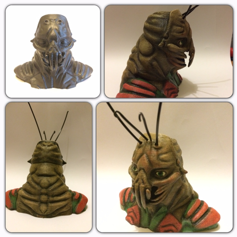 Download free STL file District 9 Prawn Bust • 3D print design, Geoffro